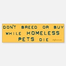 Do Not Breed or Buy Labels Bumper Car Car Sticker