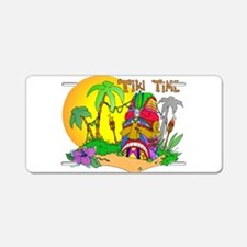 TIKI Face TIME Aluminum License Plate