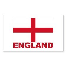 England Flag Rectangle Decal
