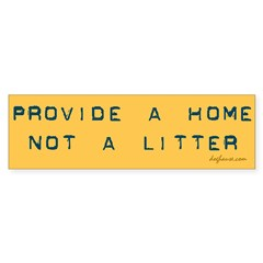 Provide a Home Yellow Bumper Bumper Sticker