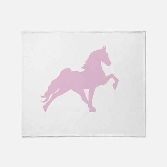 Walking horse Throw Blanket