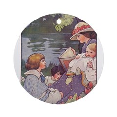 1900's By the River Ornament (Round)
