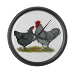 Maline Fowl Large Wall Clock
