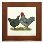 Maline Fowl Framed Tile