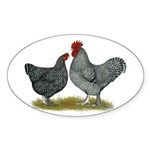 Maline Fowl Sticker (Oval 50 pk)