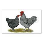 Maline Fowl Sticker (Rectangle)