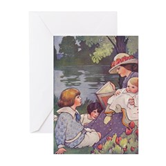 1900's By the River Greeting Cards (Pk of 10)