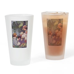 1900's By the River Drinking Glass