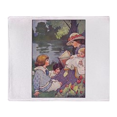 1900's By the River Throw Blanket