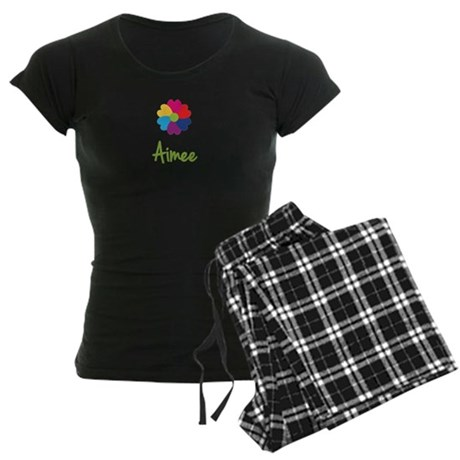 Aimee Valentine Flower Women's Dark Pajamas