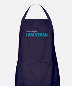I Think, Therefore, I am Vegan Apron (dark)
