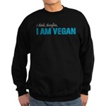 I Think, Therefore, I am Vegan Sweatshirt (dark)