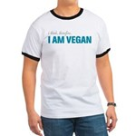 I Think, Therefore, I am Vegan Ringer T