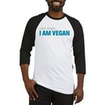 I Think, Therefore, I am Vegan Baseball Jersey