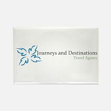 Journeys & Destinations biz w Rectangle Magnet