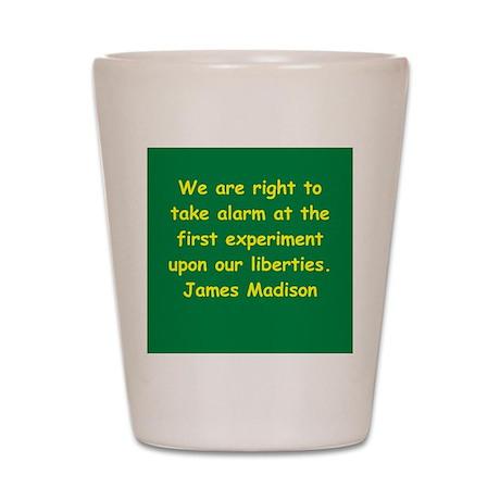 james madison Shot Glass