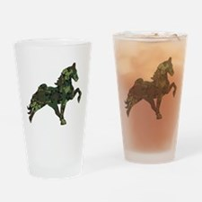 Unique Walking horses Drinking Glass