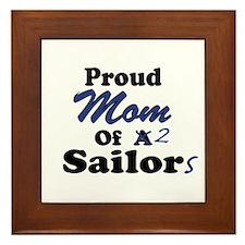 Proud Mom 2 Sailors Framed Tile