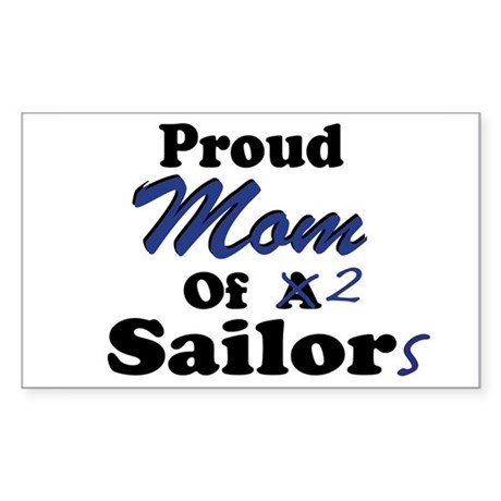 Proud Mom 2 Sailors Rectangle Sticker