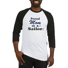 Proud Mom 2 Sailors Baseball Jersey