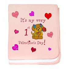 1st Valentine's Day baby blanket