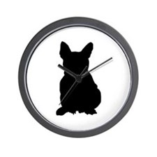 French Bulldog Silhouette Wall Clock