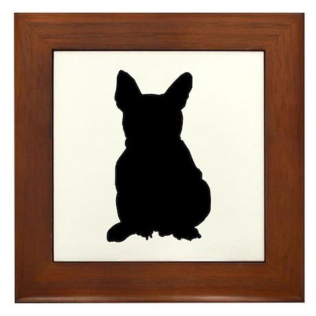 French Bulldog Silhouette Framed Tile