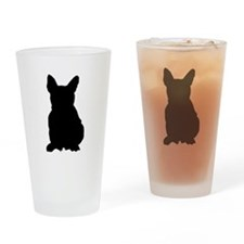 French Bulldog Silhouette Drinking Glass