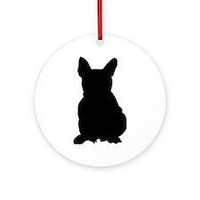 French Bulldog Silhouette Ornament (Round)