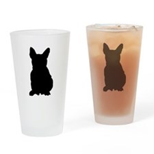 French Bulldog Silhouette Drinking Glass