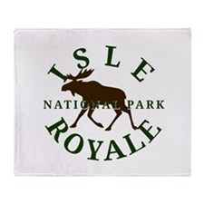 Isle Royale National Park Throw Blanket