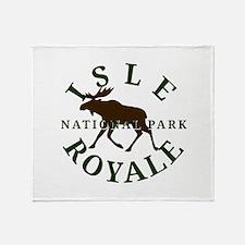 Isle Royale National Park Throw Blanket