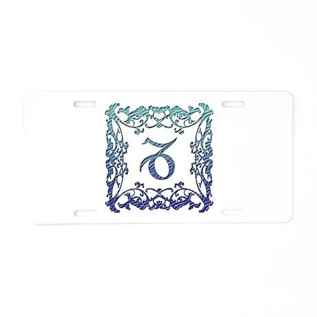 Capricorn Lattice Aluminum License Plate