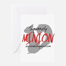Squirrely Minion Greeting Card