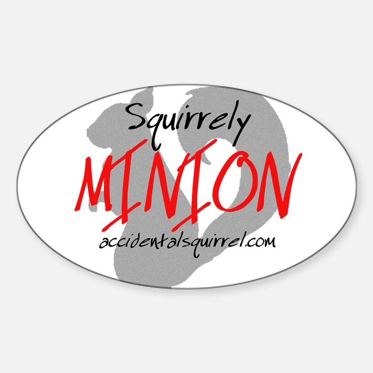 Squirrely Minion Sticker (Oval)