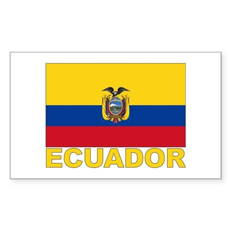 Ecuador Flag Rectangle Sticker
