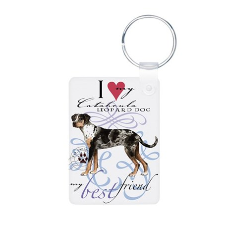 Catahoula Leopard Dog Aluminum Photo Keychain