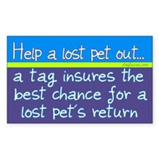 Help a Lost Pet Out Rectangle Decal