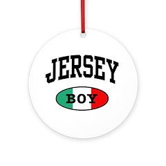 Italian Jersey Boy Ornament (Round)