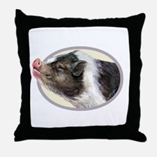 Potbellied Pigs Throw Pillow