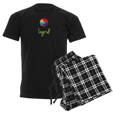 Ingrid Valentine Flower Men's Dark Pajamas