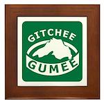 Gitchee Gumee - Lake Superior Framed Tile