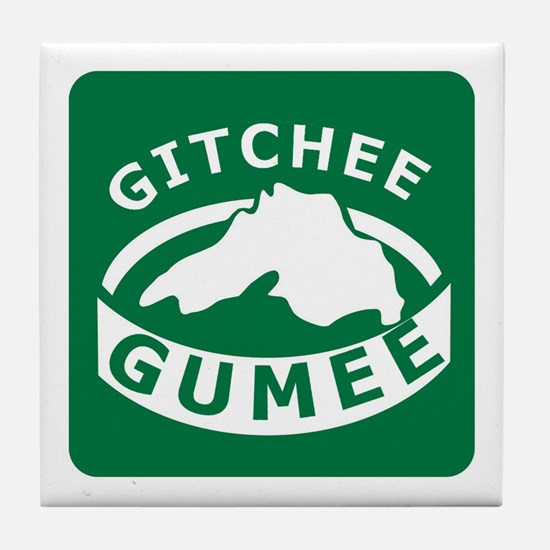 Gitchee Gumee - Lake Superior Tile Coaster