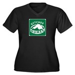 Gitchee Gumee - Lake Superior Women's Plus Size V-