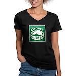 Gitchee Gumee - Lake Superior Women's V-Neck Dark
