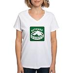 Gitchee Gumee - Lake Superior Women's V-Neck T-Shi