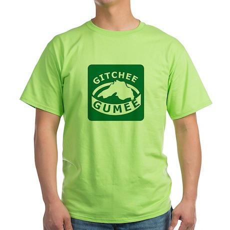 Gitchee Gumee - Lake Superior Green T-Shirt