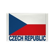 Czech Republic Flag Rectangle Magnet