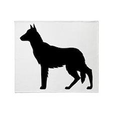 German Shepherd Silhouette Throw Blanket