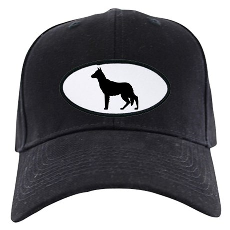 Christmas or Holiday German Shepherd Silhouette Bl